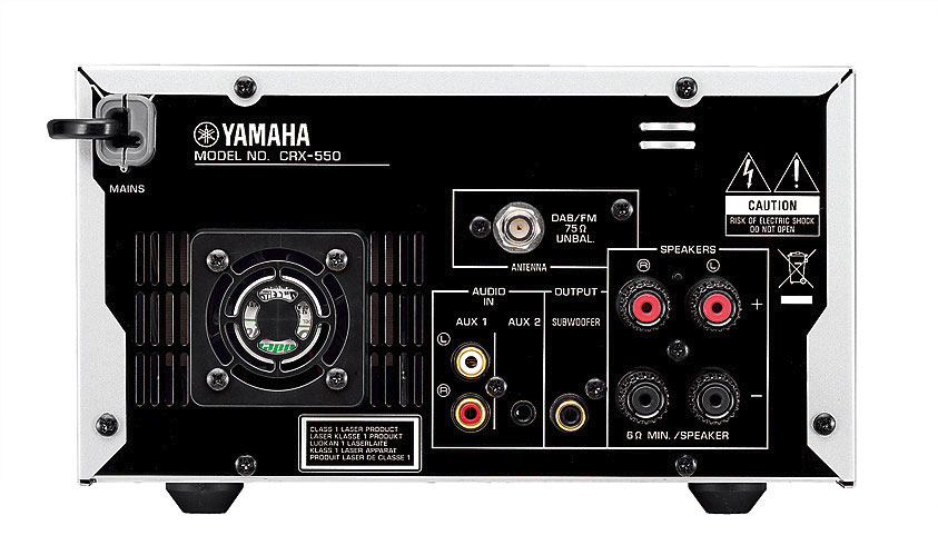 Yamaha CD Receiver MCR-550 rear